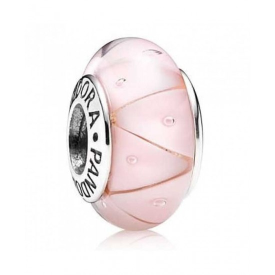 Pandora Charm-Silver And Pink Murano Glass Jewelry