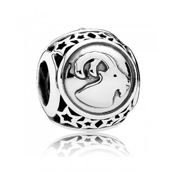 Pandora Charm-Silver Capricorn Star Sign Jewelry