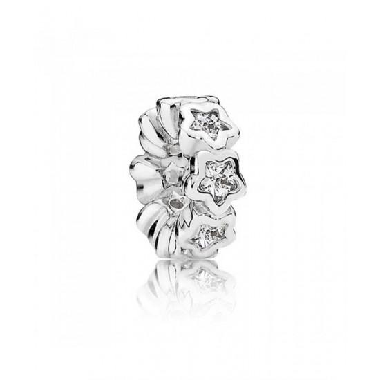 Pandora Spacer-Silver Cubic Zirconia Starshine Jewelry