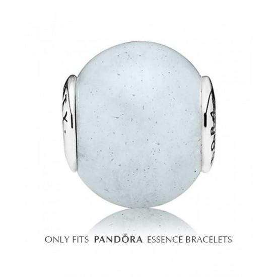 Pandora Charm-Essence Silver Aquamarine Loyalty Bead Jewelry