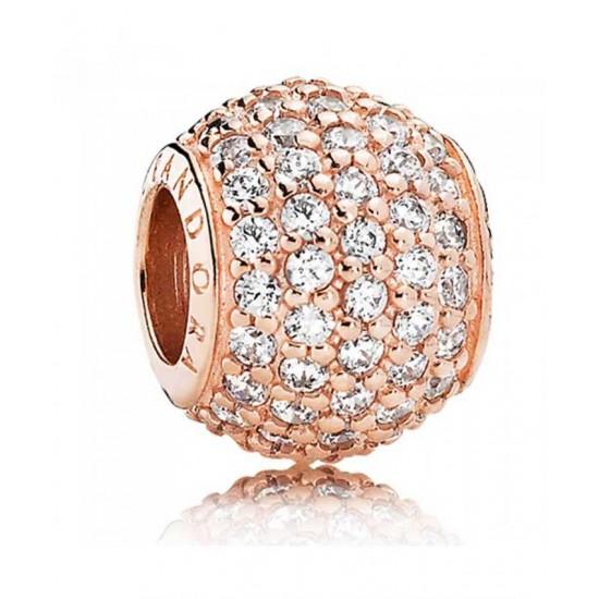 Pandora Charm-Rose Pave Ball Jewelry
