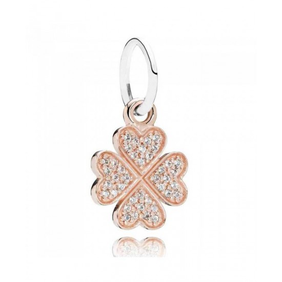 Pandora Pendant-14ct Rose Gold Lucky In Love Jewelry