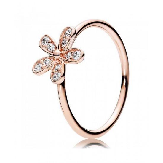 Pandora Ring-Rose Dazzling Daisy Cubic Zirconia Jewelry