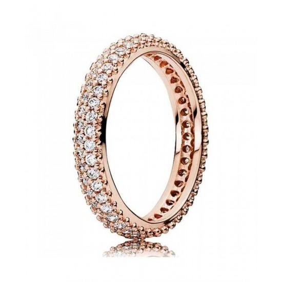 Pandora Ring-Rose Inspiration Within Cubic Zirconia Band Jewelry