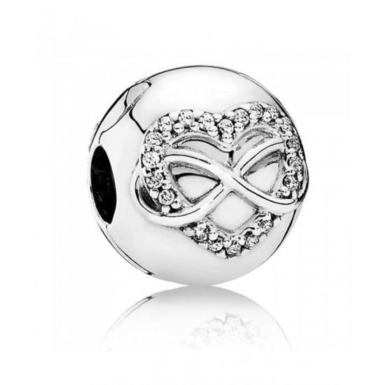 Pandora Clip-Silver Infinity Heart Jewelry
