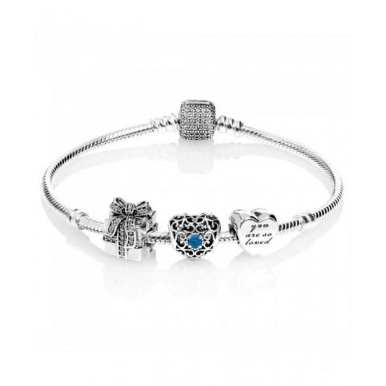 Pandora Bracelet-Sparkling December Birthstone Complete Jewelry