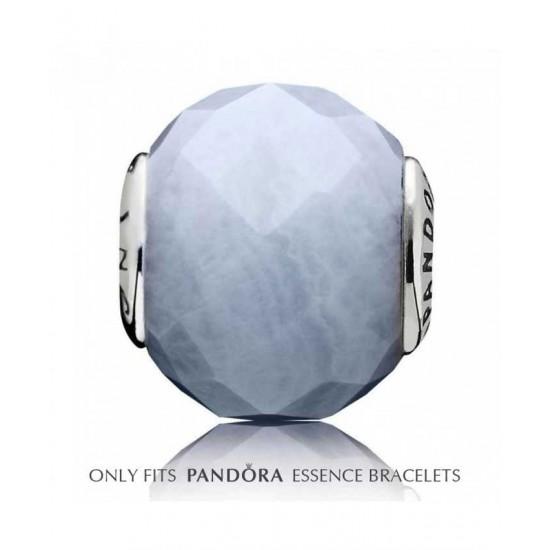 Pandora Charm-Essence Silver Blue Agate Patience Jewelry