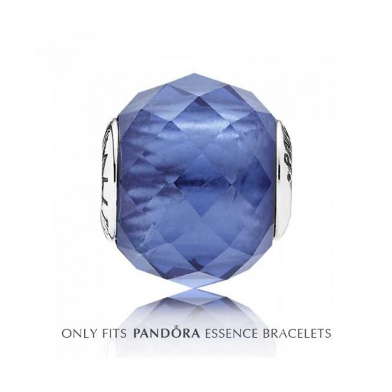 Pandora Charm-Essence Silver Blue Crystal Spirituality Jewelry