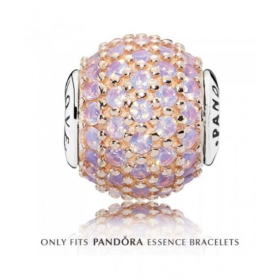 Pandora Charm-Essence Silver Pink Crystal Love Jewelry