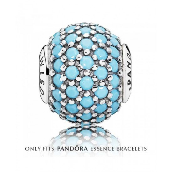 Pandora Charm-Essence Silver Turquoise Crystal Wisdom Jewelry