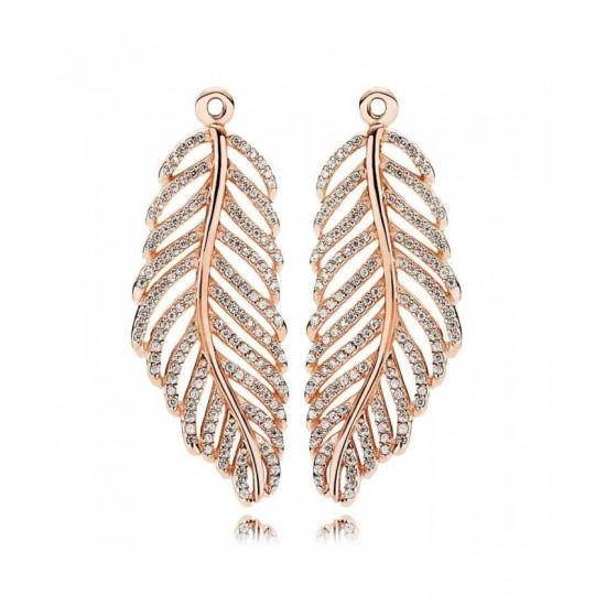 Pandora Earring-Rose Feather Jewelry