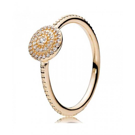 Pandora Ring-14ct Gold Radiant Elegance Jewelry