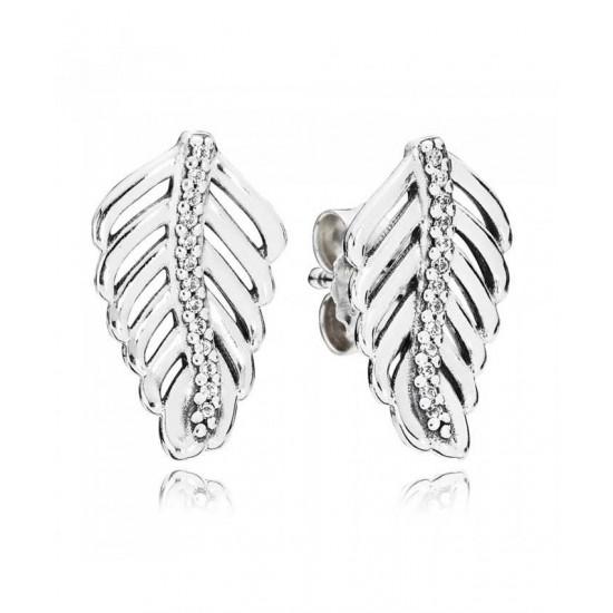 Pandora Earring-Silver Cubic Zirconia ShimmeRing Jewelry