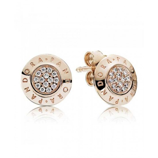 Pandora Earring-Rose Signature Stud Cubic Zirconia Jewelry