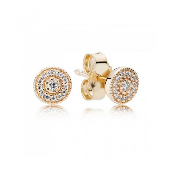 Pandora Earring-14ct Gold Radiant Elegance Jewelry