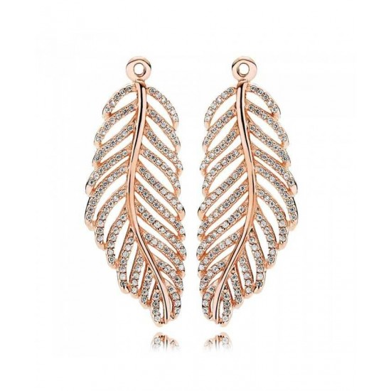 Pandora Earring-Rose Feather Jewelry Online Shop