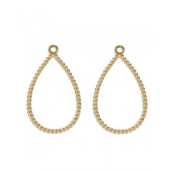 Pandora Earring-14ct Gold Tear Drop Hoop Jewelry