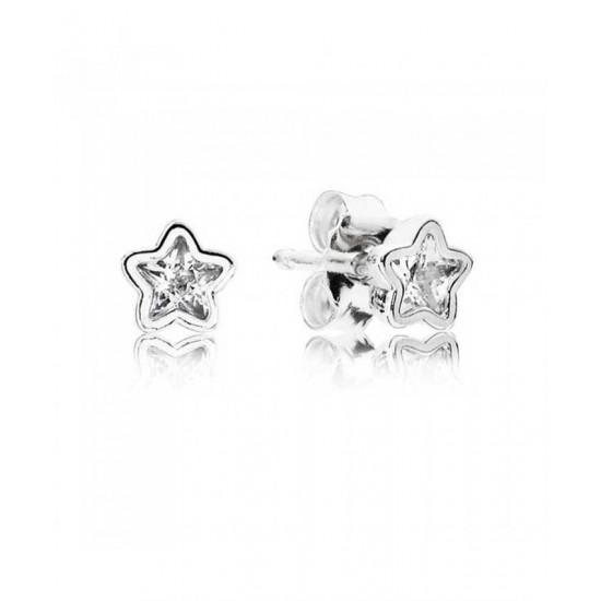 Pandora Earring-Silver Cubic Zirconia Starshine Stud Jewelry