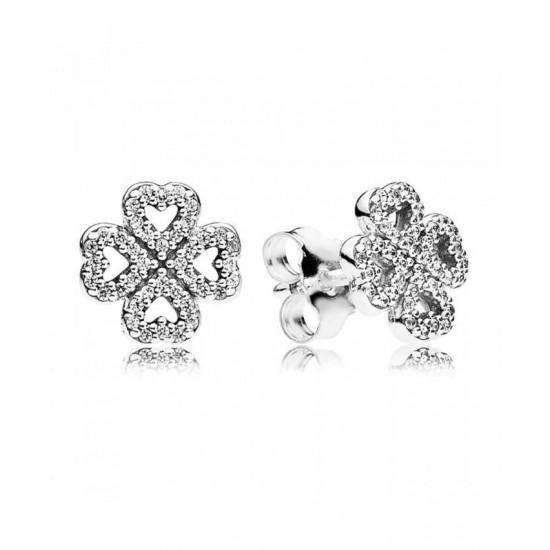 Pandora Earring-Silver Petals Of Love Stud Jewelry