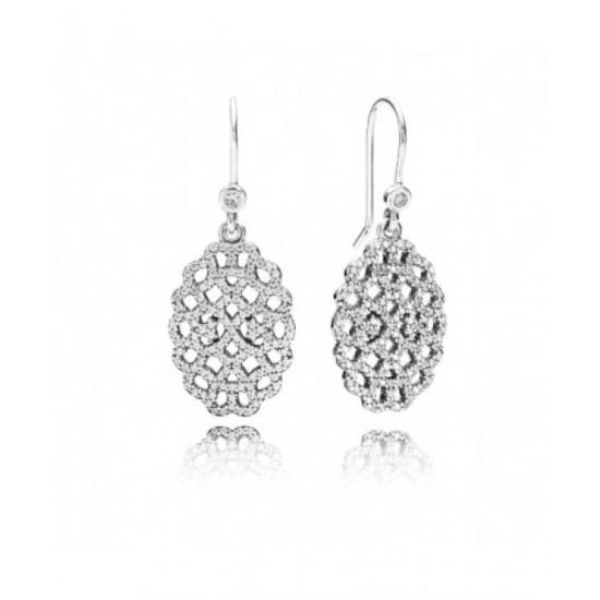 Pandora Earring-Silver Statement Lace Pendant Jewelry