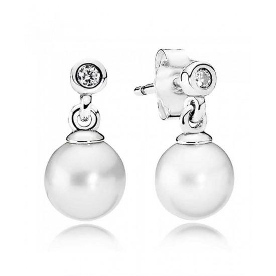 Pandora Earring-Silver Luminous Elegance Jewelry