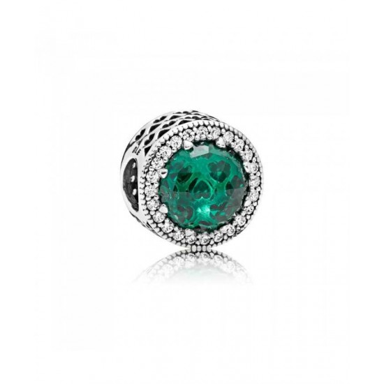 Pandora Charm-Green Radiant Hearts Jewelry