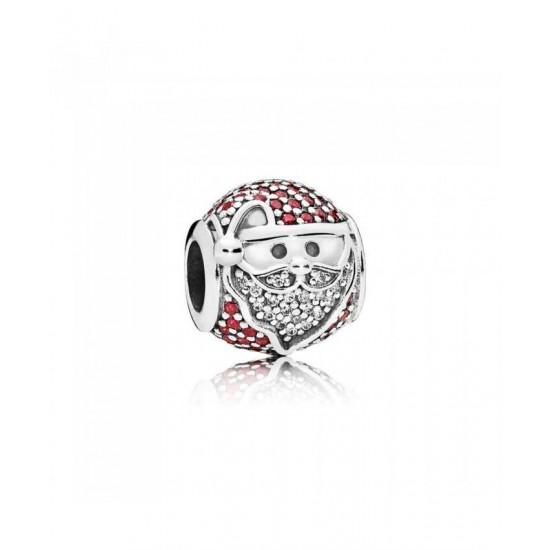 Pandora Charm-Sparkling Jolly Santa Jewelry