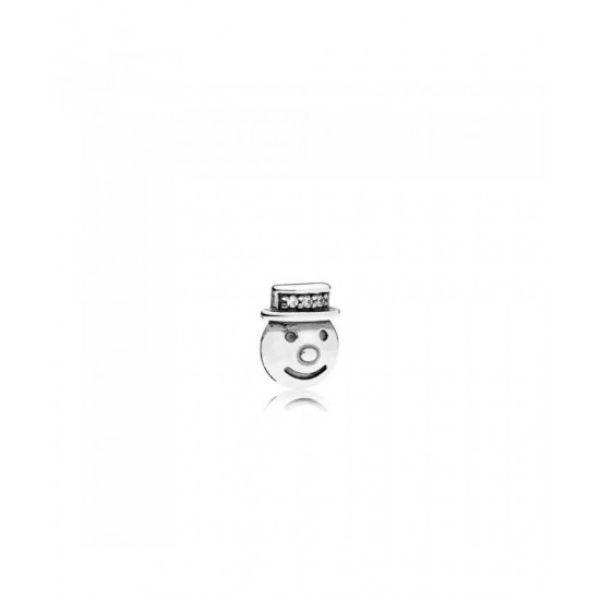 Pandora Charm-Happy Snowman Petite Locket Jewelry