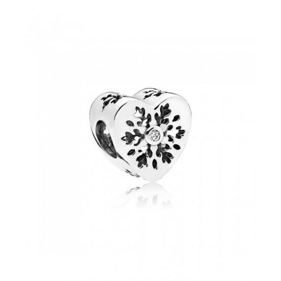 Pandora Charm-Snowflake Heart Jewelry