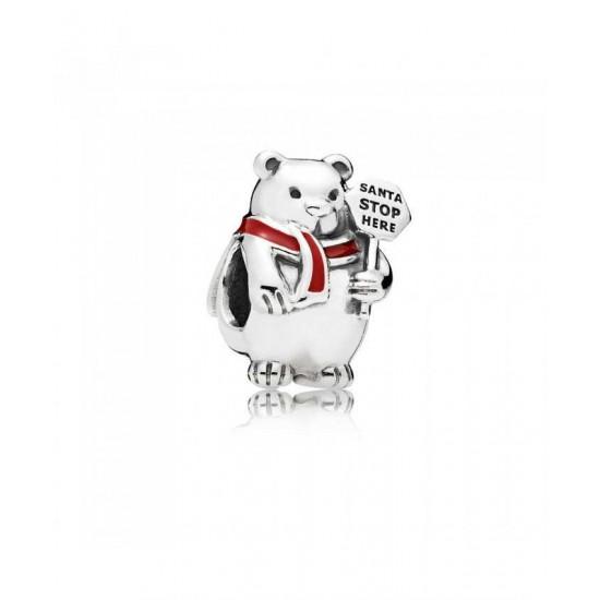 Pandora Charm-Christmas Polar Bear Jewelry
