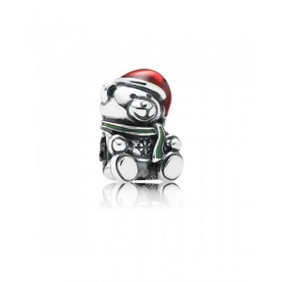 Pandora Charm-Christmas Teddy Bear Jewelry