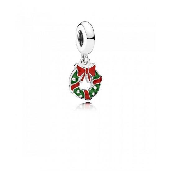Pandora Pendant-Holiday Wreath Jewelry