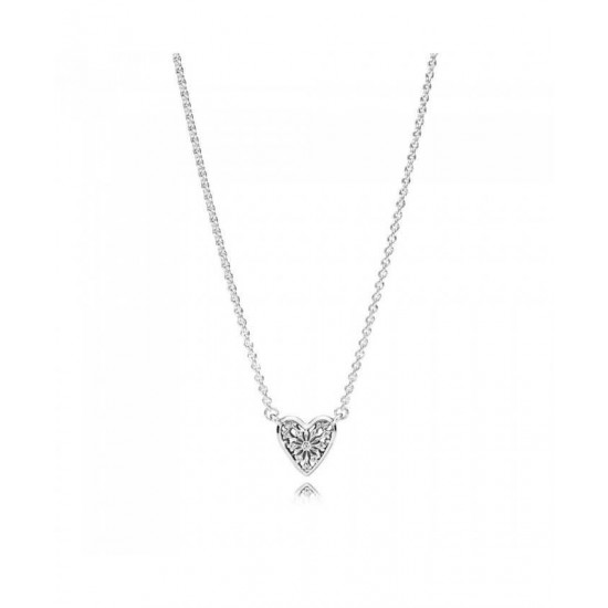 Pandora Necklace-Heart Of Winter Collier Jewelry