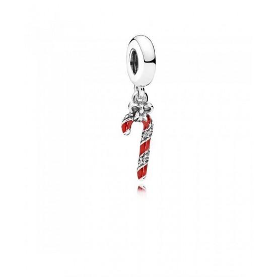 Pandora Pendant-Sparkling Candy Cane Jewelry