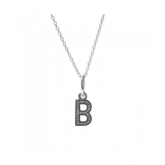 Pandora Necklace-Sparkling Alphabet B Jewelry