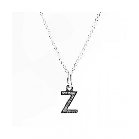 Pandora Necklace-Sparkling Alphabet Z Jewelry