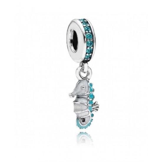 Pandora Pendant-Tropical Seahorse Jewelry