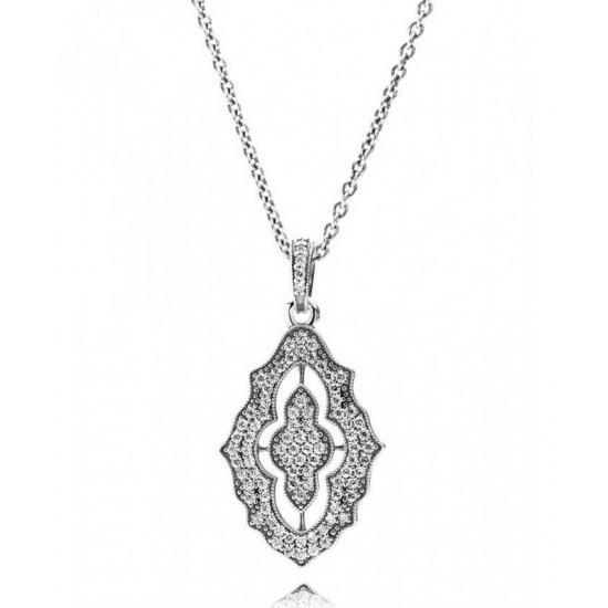 Pandora Necklace-Silver Classic Christmas Cubic Zirconia Jewelry