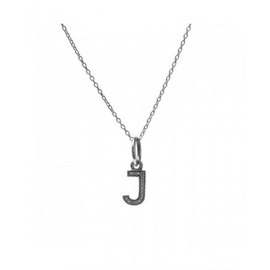 Pandora Necklace-Sparkling Alphabet J Jewelry