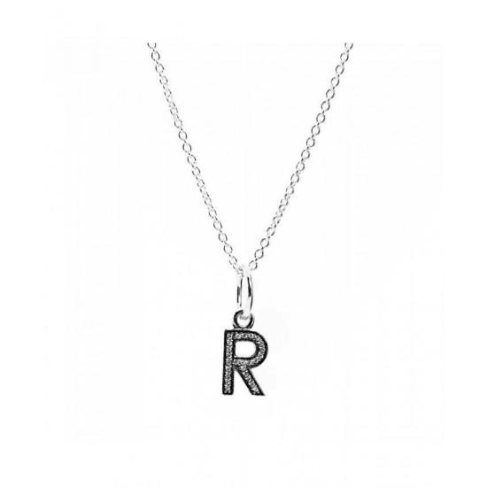 Pandora Necklace-Sparkling Alphabet R Jewelry