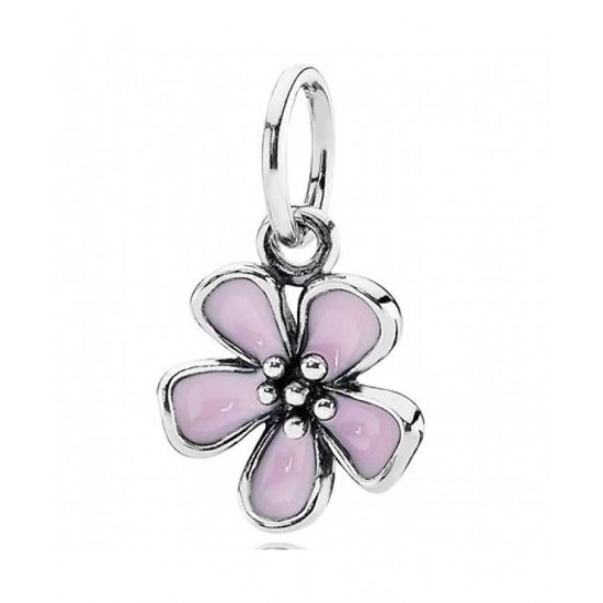 Pandora Pendant-Silver Cherry Blossom Flower Jewelry