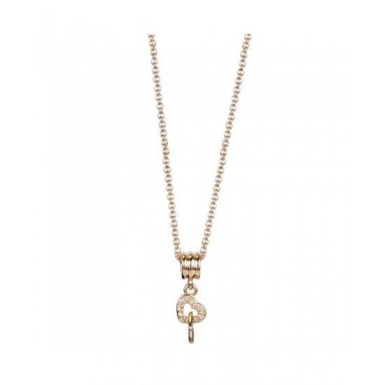 Pandora Necklace-Rose Interlocked Hearts Jewelry