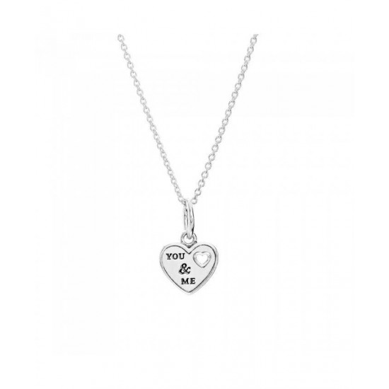 Pandora Necklace-Silver You And Me Jewelry