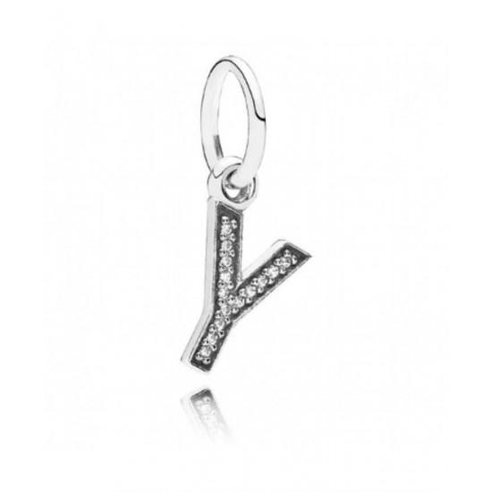 Pandora Pendant-Sparkling Alphabet Y Jewelry