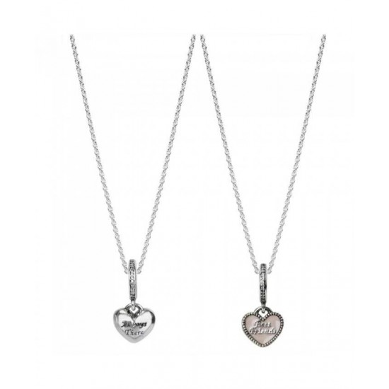 Pandora Necklace-Silver Best Friends Jewelry