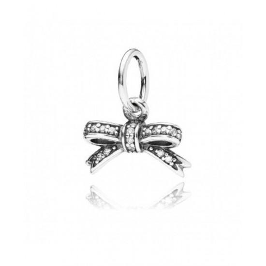 Pandora Pendant-Silver Delicate Bow Jewelry