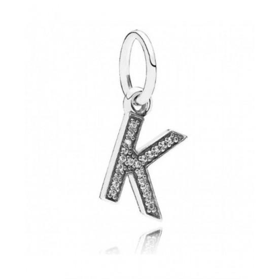 Pandora Pendant-Sparkling Alphabet K Jewelry
