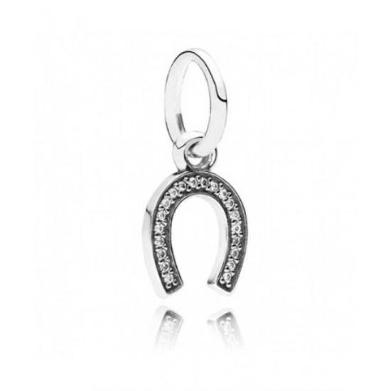 Pandora Pendant-Sparkling Lucky Horseshoe Jewelry