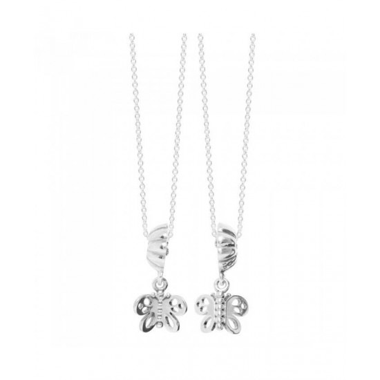 Pandora Necklace-Silver Butterflies Complete Jewelry