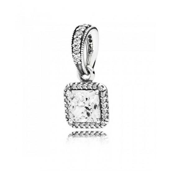 Pandora Pendant-Silver Timeless Elegance Cubic Zirconia Jewelry